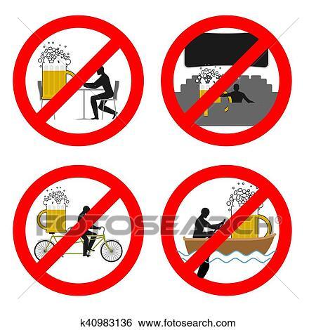 Clip Art Verboten Trinken Alkohol In öffentlichkeit Places