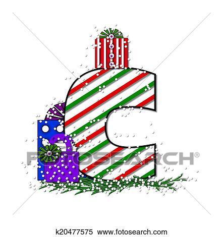 Stock Illustration Of Alphabet Chrimassy Letters C K20477575