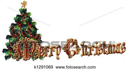 Buon Natale 3d.Buon Natale Etichetta Disegno 3d Tex Archivio Illustrazioni