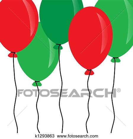 Christmas Balloons Drawing K1293863 Fotosearch