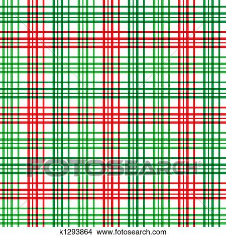 a plaid background pattern in christmas colors - Christmas Plaid