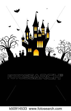 Halloween Card Drawing K50914533 Fotosearch