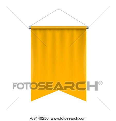 Pennant Template Clipart K68440250 Fotosearch