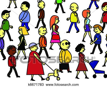clipart of peoples crowd k6671783 search clip art illustration rh fotosearch com clipart crowd cheering clipart crowd cheering