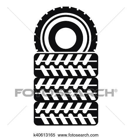 clipart of pile of tires icon simple style k40613165 search clip rh fotosearch com tired clipart tire clipart