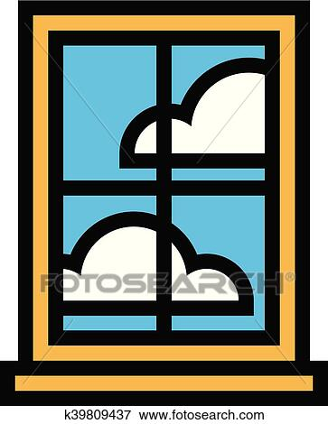 Cartoon Window Clip Art at Clker.com - vector clip art ... |Window Pane Clipart