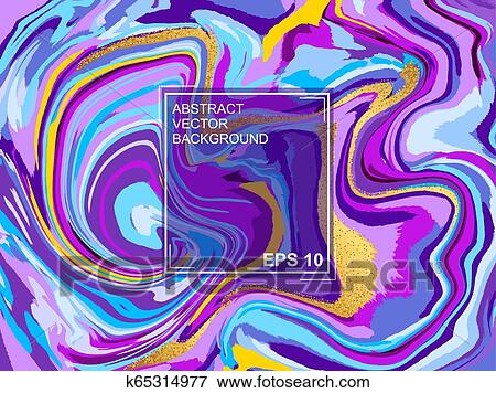 Abstract Vector Background With Beautiful Fantasy Ink