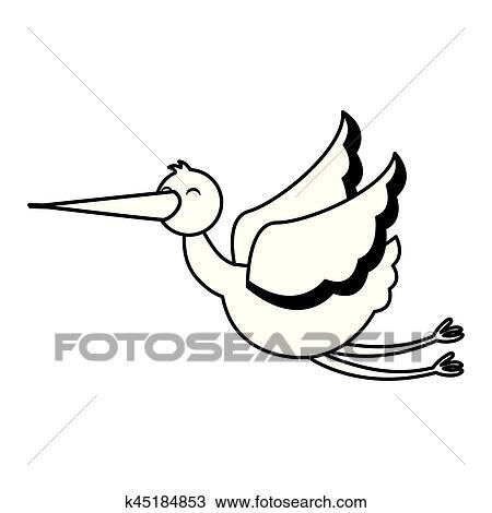 clipart cegonha voando isolado ícone k45184853 busca de