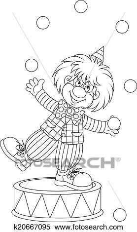 Clipart Clown Jongleur K20667095 Suche Clip Art Illustration