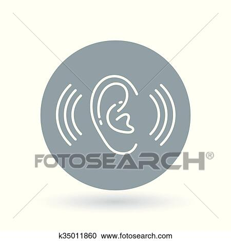 Clipart Of Ear Hearing Aid Icon Volume Increase Sign Ear Hear