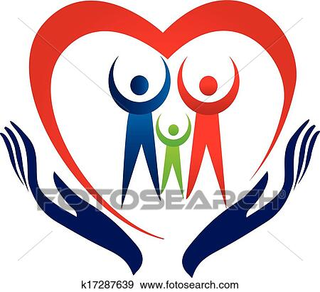 Clip Art of Hands care family logo icon k17287639 - Search ...