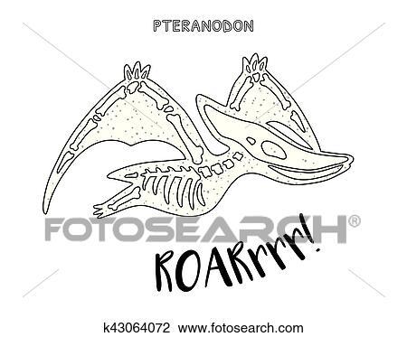 Flying Dinosaur Skeleton Clipart Clipart Suggest