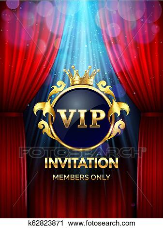 Premium Invitation Card Vip Party Invite With Golden Crown