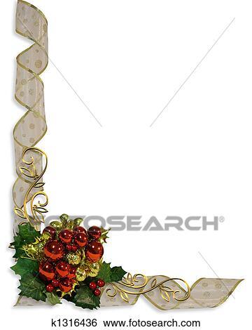 Christmas Border Design.Christmas Border Corner Design Stock Illustration