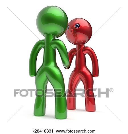 Handshake Cartoon Characters Two Men Shaking Hand Deal Clipart K28418331