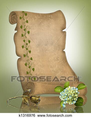 stock illustration of parchment paper scroll background k1316976