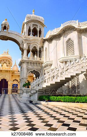 Sri Krishna Balaram temple, Vrindavan, India Stock Photograph