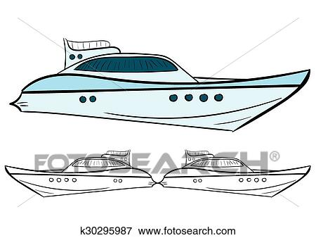 Yacht And Contour Clip Art K30295987 Fotosearch