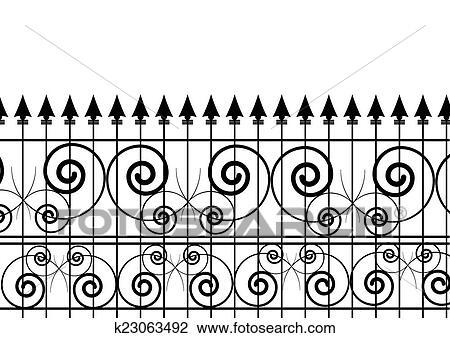 Clipart Zaun K23063492 Suche Clip Art Illustration Wandbilder