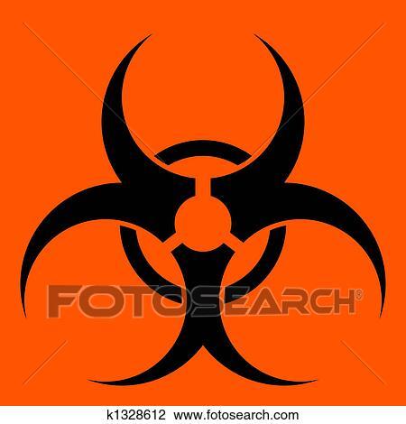 Clip Art Of Biohazard Symbol K1328612 Search Clipart Illustration
