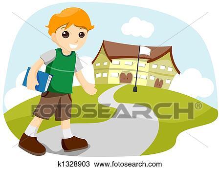 Dibujo - ir al colegio k1328903 - Buscar Clip Art ...