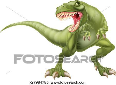Clipart Of T Rex Dinosaur Illustration K27984785 Search Clip Art