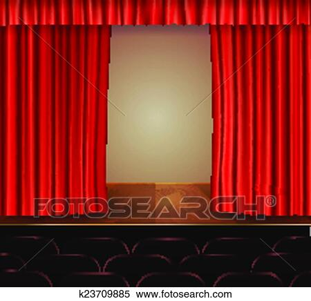 clipart of theater curtains background k23709885 search clip art