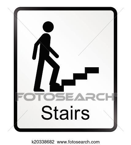 Clipart - treppe, informationen zeichen k20338682 - Suche Clip Art ...