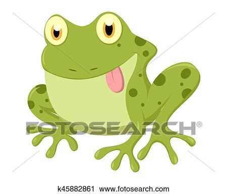 クリップアート切り張りイラスト絵画集 かわいい カエル