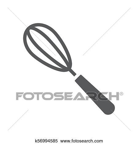 Batteur A œufs Glyph Icone Cuisine Et Cuisine Fouet Signe