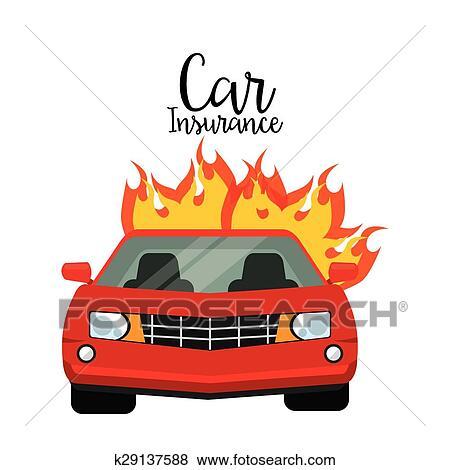 car insurance design vector illustration eps10 graphic