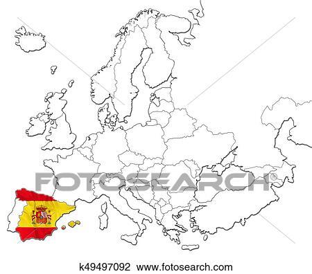 Map Of Spain Drawing.Map Of Spain Drawing