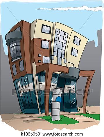 Stock Illustration Of Modern Office Building In Cartoon K1335959