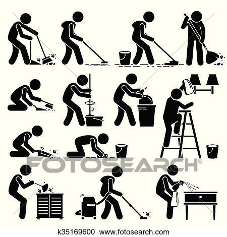 Nettoyeur nettoyage et lavage maison clipart k35169600 fotosearch - Lavage tapis maison ...