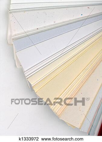 Stock photo of paper samples for business cards k1333972 search colored samples of different papers on white background business cards reheart Image collections