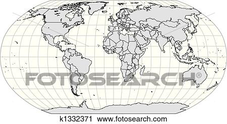 Clipart of world bw outline digital map k1332371 search clip art clipart world bw outline digital map fotosearch search clip art illustration murals gumiabroncs Gallery