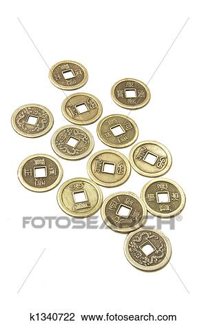 Stock Photo Of Ancient Chinese Coins K1340722 Search Stock