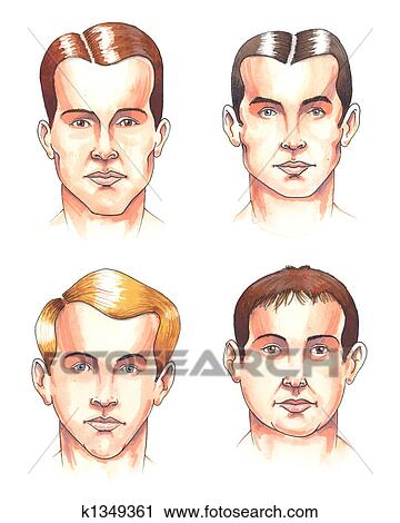 clipart of body parts faces k1349361 search clip art