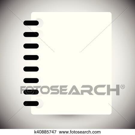 Simbolo Calendario.Calendario Quaderno Pagina Simbolo O Icon Vuoto Bianco Page Clip Art