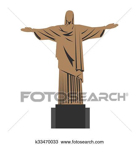 Dessin Christ Redempteur dessin - christ rédempteur k33470033 - recherchez des cliparts, des