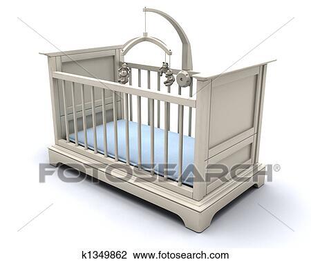 Clip Art Kinderbett Für Baby Junge K1349862 Suche Clipart
