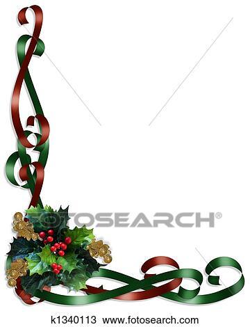 Disegno Natale Bordo Nastri E Agrifoglio K1340113 Cerca