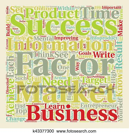 Success Factors Of Wealthy Infoproduct Marketers text background wordcloud  concept Clipart