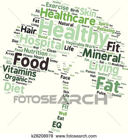 clip art of words related to healthy lifestyle k28208978 search