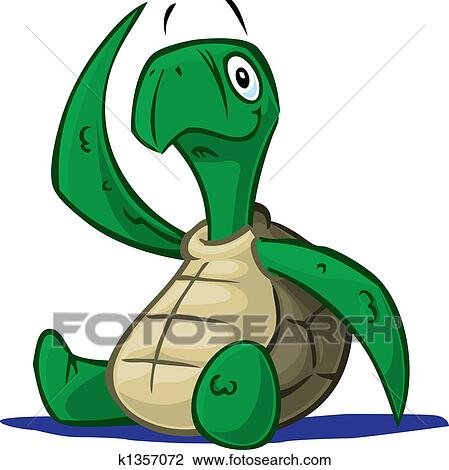 Baby Turtle Drawing K1357072 Fotosearch