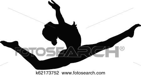 Stickwoman Gymnastics Splits Clip Art at Clker.com - vector clip art  online, royalty free & public domain