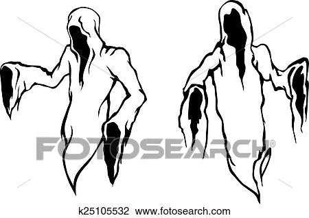 Halloween Ghosts And Monsters Clipart K25105532 Fotosearch