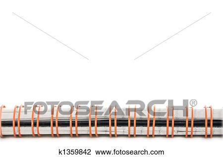 stock photo of notebook spiral spine k1359842 search stock