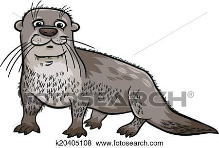 Clip Art - nutria, animal, caricatura, ilustración k20405108 ...