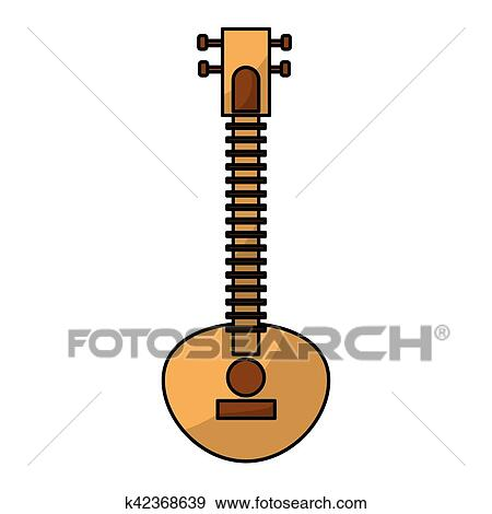 clip art of sitar indian music instrument k42368639 search clipart rh fotosearch com
